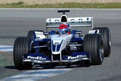 Piquet testa carro da Williams em 2004